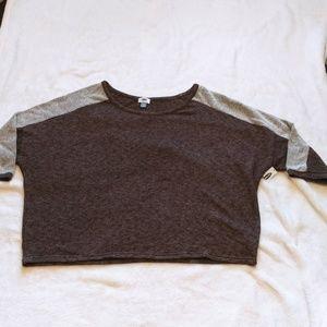 Crew Neck Cropped Sweat Shirt sz XXL
